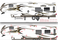 7 Piece 2015 Mountaineer  Partial Roadside Graphics Kit - Image 2