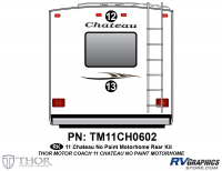 2 Piece 2011 Chateau Class C Rear Graphics Kit