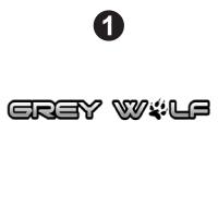 Front Grey Wolf  Logo