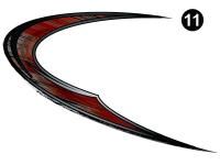 Cyclone - 2015 Cyclone FW-Fifth Wheel Red on White - Swirl Back