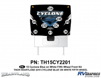 9 Piece 2014 Cyclone FW Front Graphics Kit Blue White Version