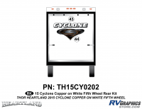 2 Piece 2014 Cyclone FW Rear Graphics Kit Copper White Version