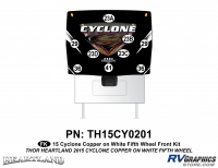 9 Piece 2014 Cyclone FW Front Graphics Kit Copper White Version