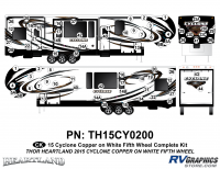 74 Piece 2014 Cyclone FW Complete Graphics Kit Copper White Version