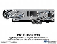 31 Piece 2014 Cyclone FW Roadside Graphics Kit Blue Gray Version