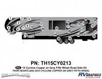31 Piece 2014 Cyclone FW Roadside Graphics Kit Copper Gray Version