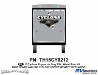 2 Piece 2014 Cyclone FW Rear Graphics Kit Copper Gray Version