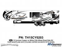 31 Piece 2014 Cyclone FW Roadside Graphics Kit Copper White Version