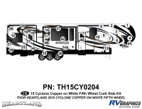 32 Piece 2014 Cyclone FW Curbside Graphics Kit Copper White Version