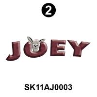 2 Side 'JOEY' Logo