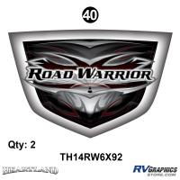 "Road Warrior - 2014 Road Warrior Additional Items - Road Warrior Boo Boo Shields;6"" x 9""2 ea"