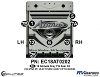 9 Piece 2018 Attitude Fifth Wheel Gray Rear Graphics Kit