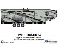 25 Piece 2018 Attitude Fifth Wheel Gray Curbside Graphics Kit