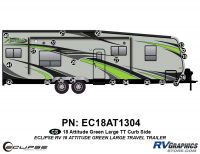 620 21 Piece 2018 Attitude Lg Travel Trailer Green Curbside Graphics Kit