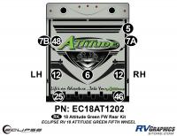 Attitude - 2018 Attitude FW-Fifth Wheel Green Version - 9 Piece 2018 Attitude Fifth Wheel Green Rear Graphics Kit