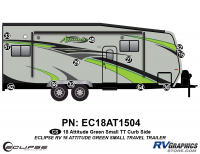 12 Piece 2018 Attitude Sm Travel Trailer Green Curbside Graphics Kit