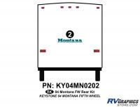 1 Piece 2004 Montana FW Rear Graphics Kit