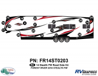 Stealth - 2014 Stealth FW-Fifth Wheel - 21 Piece 2014 Stealth FW Roadside Graphics Kit