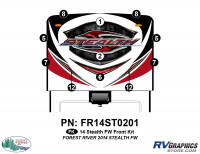 Stealth - 2014 Stealth FW-Fifth Wheel - 11 Piece 2014 Stealth FW Front Graphics Kit