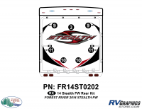 Stealth - 2014 Stealth FW-Fifth Wheel - 7 Piece 2014 Stealth FW Rear Graphics Kit