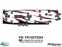 Stealth - 2014 Stealth FW-Fifth Wheel - 21 Piece 2014 Stealth FW Curbside Graphics Kit