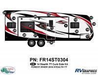 Stealth - 2014 Stealth Lg TT-Travel Trailer - 17 Piece 2014 Stealth Lg TT Curbside Graphics Kit