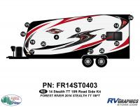 14 Piece 2014 Stealth 18' TT Roadside Graphics Kit