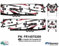 Stealth - 2014 Stealth FW-Fifth Wheel - 58 Piece 2014 Stealth FW Complete Graphics Kit