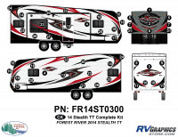 Stealth - 2014 Stealth Lg TT-Travel Trailer - 51 Piece 2014 Stealth Lg TT Complete Graphics Kit