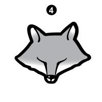 Side Desert Fox Head