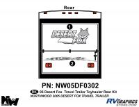 3 piece 2005 Desert Fox TT Rear Graphics Kit