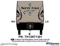 North Trail - 2013 North Trail Elite Edition TT-Travel Trailer - 7 Piece 2013 North Trail Elite Edition TT Front Graphics Kit