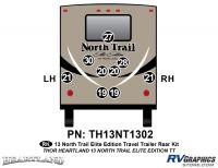 North Trail - 2013 North Trail Elite Edition TT-Travel Trailer - 9 Piece 2013 North Trail Elite Edition TT Rear Graphics Kit