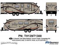 North Trail - 2013 North Trail Elite Edition TT-Travel Trailer - 56 Piece 2013 North Trail Elite Edition TT Complete Graphics Kit