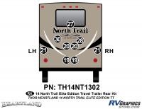 North Trail - 2014 North Trail Elite Edition TT-Travel Trailer - 9 piece 2014 North Trail Elite Edition TT Rear Graphics Kit