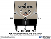 North Trail - 2014 North Trail Elite Edition TT-Travel Trailer - 7 piece 2014 North Trail Elite Edition TT Front Graphics Kit