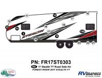 Stealth - 2017 Stealth TT-Lg Travel Trailer - 17 Piece 2017 Stealth TT-Lg Roadside Graphics Kit