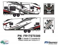 Stealth - 2017 Stealth TT-Lg Travel Trailer - 49 Piece 2017 Stealth TT-Lg Complete Graphics Kit
