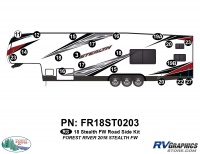 Stealth - 2018 Stealth FW-Fifth Wheel - 20 Piece 2018 Stealth FW White Roadside Graphics Kit