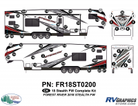 Stealth - 2018 Stealth FW-Fifth Wheel - 56 Piece 2018 Stealth FW White Complete Graphics Kit
