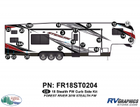 Stealth - 2018 Stealth FW-Fifth Wheel - 20 Piece 2018 Stealth FW White Curbside Graphics Kit