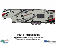 Stealth - 2018 Stealth FW-Fifth Wheel Gray Glass - RS 21 Piece 2018 Stealth FW Gray Roadside Graphics Kit