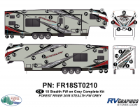 Stealth - 2018 Stealth FW-Fifth Wheel Gray Glass - CK 58 Piece 2018 Stealth FW Gray Complete Graphics Kit