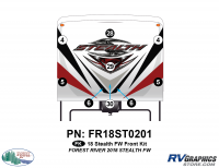Stealth - 2018 Stealth FW-Fifth Wheel - 9 Piece 2018 Stealth FW White Front Graphics Kit