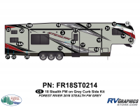 Stealth - 2018 Stealth FW-Fifth Wheel Gray Glass - CS 21 Piece 2018 Stealth FW Gray Curbside Graphics Kit