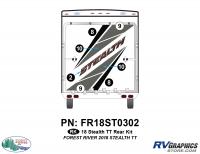7 Piece 2018 Stealth TT Rear Graphics Kit