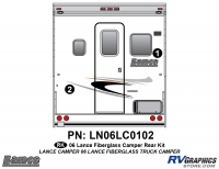 Lance - 2006 to 2009 Lance Camper - 2 Piece 2006 Lance Camper Rear Graphics Kit