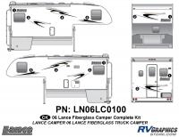 Lance - 2006 to 2009 Lance Camper - 12 Piece 2006 Lance Camper Complete Graphics Kit