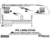 Lance - 2006 to 2009 Lance Camper - 4 Piece 2006 Lance Camper Curbside Graphics Kit