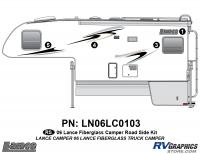 Lance - 2006 to 2009 Lance Camper - 4 Piece 2006 Lance Camper Roadside Graphics Kit